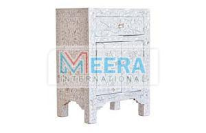 MB414 Mother of Pearl Bedside Table
