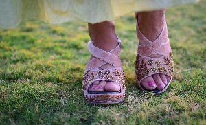 Ladies Embroidered Footwear 15