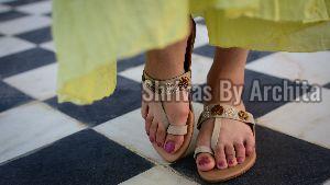 Ladies Embroidered Footwear 01