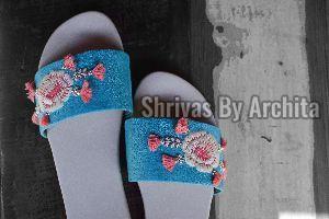 Ladies Embroidered Footwear 02