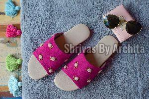 Ladies Embroidered Footwear 04