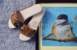 Ladies Embroidered Footwear 07