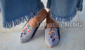 Ladies Embroidered Footwear 12