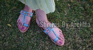 Ladies Embroidered Footwear 16