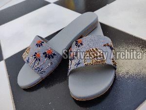 Ladies Embroidered Footwear 17