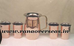 Copper Jug With Glasses
