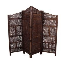 Hand Carved Wooden Screen Divider