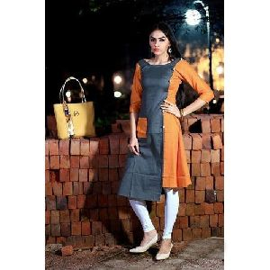 Ladies Round Neck Casual Wear Kurti