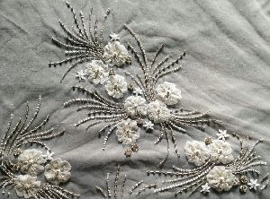 Beaded Embroidered Fabric 01