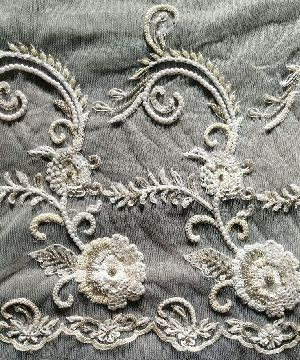 Embroidered Poly Cotton  Fabric 02