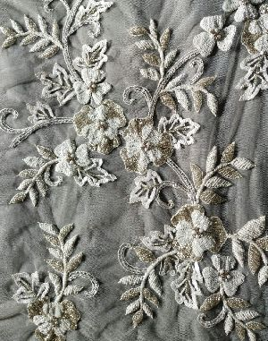 Embroidered Poly Cotton  Fabric 03