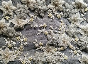 Embroidered Poly Cotton Fabric