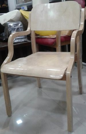 Wooden Visitor Chair 02