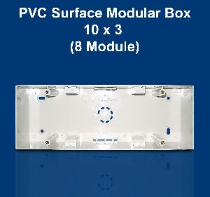 10 X 3 PVC Surface Modular Box