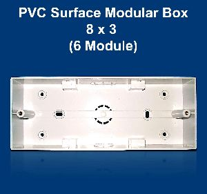 8 X 3 PVC Surface Modular Box