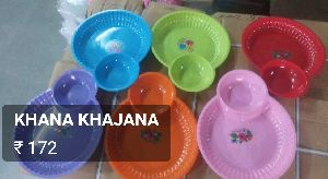 Plastic Plate & Bowl Set