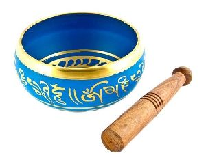 Blue Tibetan Meditation Singing Bowl