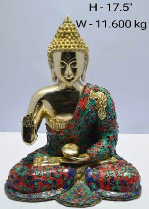 Brass Buddha Statue 04
