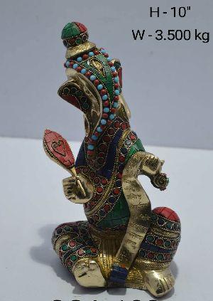 Brass Ganesha Statue 02