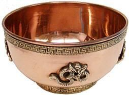 Om Design Copper Offering Bowl
