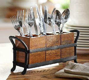 Wooden Cutlery Box
