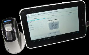 Android Tablet with Optical Fingerprint Scanner
