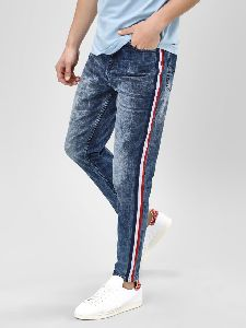 Striped Tape Side Jeans
