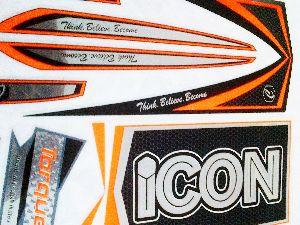 GABST-001 English Willow Bat Sticker Standard