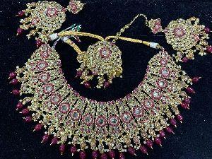Polki Choker Necklace Set