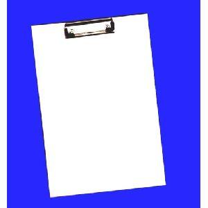 White Examination Cardboard