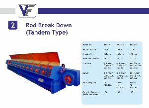 Rod Break Down Machine Tandem Type
