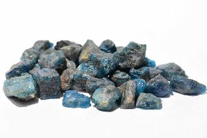 Blue Apatite Raw Rough Stones