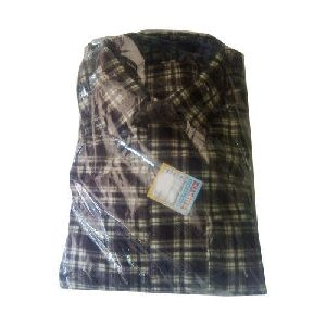 Mens Brown Woolen Shirt