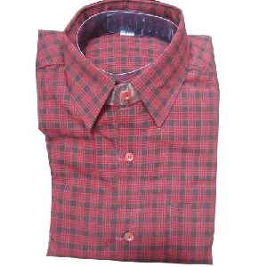 Mens Red Woolen Shirt