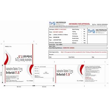 Ivabradin 7.5 mg tab