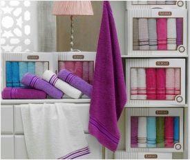 6 Piece Bath Plain Towel Set