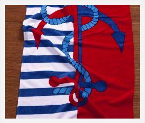 Anchor & Rope Beach Towel