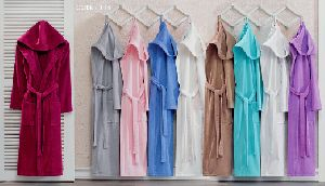 Hooded Velvet Bathrobe