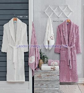 6 Pices Eco 3D Family Bathrobe Set
