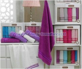6 Piece Bath Plain Towel Set