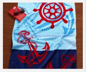 Anchor & Wheel Beach Towel