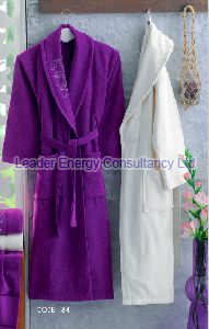 Embroidered Velvet Bathrobe
