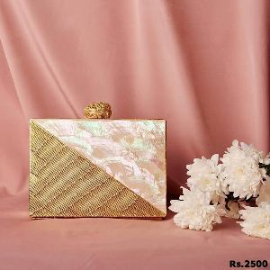 Artistic Brass Clutch Purse