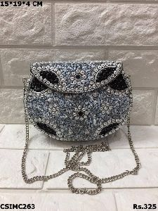 Artistic Mosaic Clutch Purse