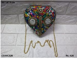 Attractive Mosaic Clutch Purse