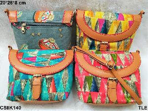 Ladies Ikkat Sling Bag
