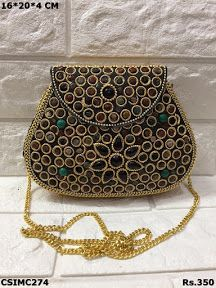 Stunning Mosaic Clutch Purse