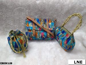 Stylish Ikat Purse and Bag Combo