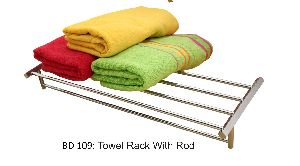 Towel Rack With Rod
