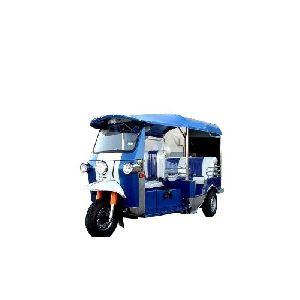 Blue Electric Auto Rickshaw